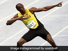 Olympic Gold Medallist Usain Bolt Returns On Track For 800m Race As Part Of Exhibition
