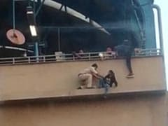 On Camera, Girl Saved At Metro Station. She Was Attempting Suicide: Cops