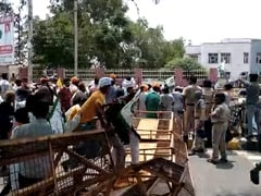 Farmers Knock Down Barricades In Haryana At Protest Against Sedition Case