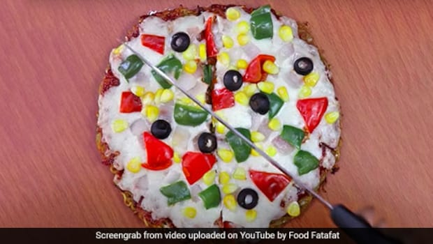 Watch: This No-Oven Maggi Pizza Brings Together The Best Of Both Worlds