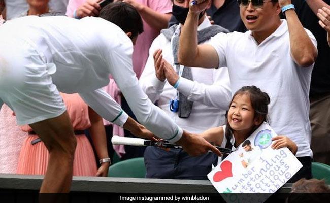 Watch: Novak Djokovic Gifts Racquet To Young Fan After Wimbledon Win