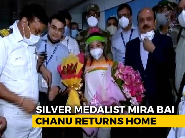 Video : Tokyo Olympics Silver Medallist Mirabai Chanu Comes Home To Big Welcome
