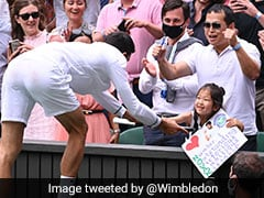 Watch: Novak Djokovic's Gesture For Young Fan At Wimbledon Delights Crowd