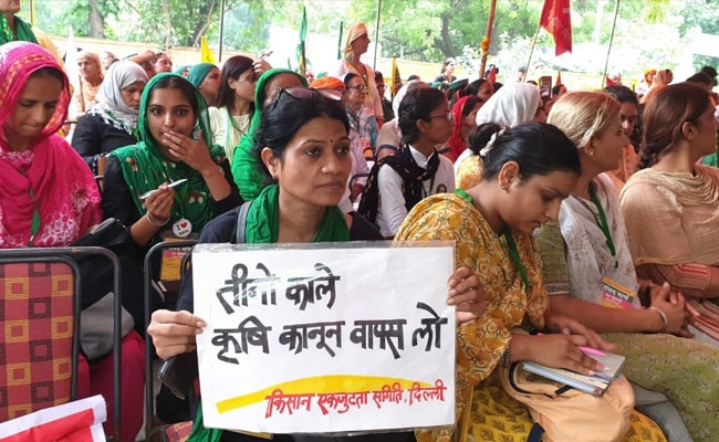 All-Women 'Kisan Sansad' At Jantar Mantar In Protest Against Farm Laws
