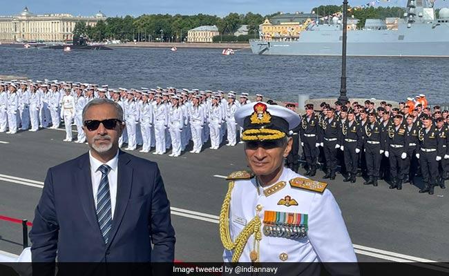 Navy Chief Karambir Singh Attends Russian Navy's 325th Anniversary Parade
