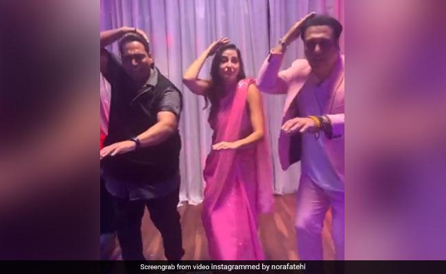 What Happens When Govinda Joins Nora Fatehi On The Dance Floor