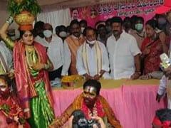 Telangana Ministers Lead 'No Mask' Act At Bonalu Festival