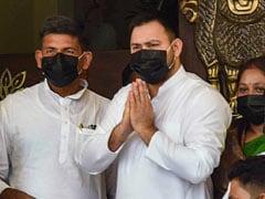 Opposition Leaders Wear Black Masks, Helmets To Bihar Assembly
