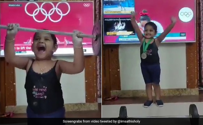 Mirabai Chanu 'Loves' This Video Of A Girl Mimicking Her Silver Medal Lift
