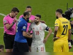 Watch: Giorgio Chiellini Playfully Punches Jordi Alba, Hugs Him During Euro 2020 Semi-Final Clash