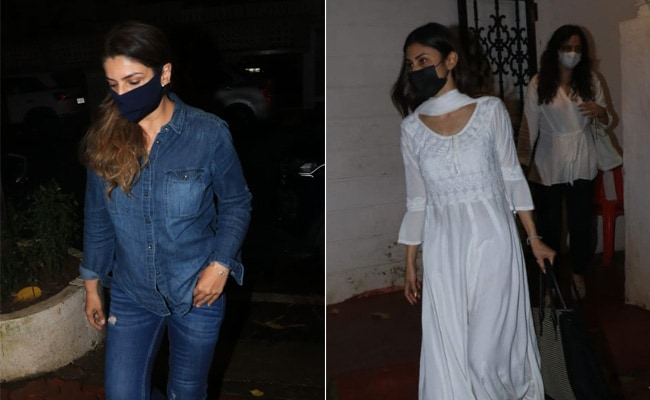 Raveena Tandon, Mouni Roy And Others Visit Mandira Bedi After Husband Raj Kaushal's Death