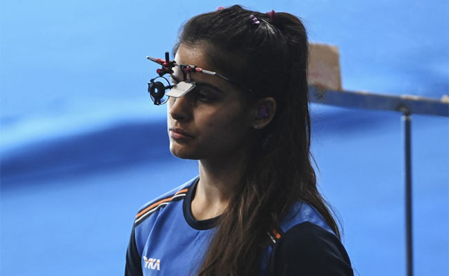 Tokyo Olympics Manu Bhaker finishes impressive 5th in Womens 25m Pistol Qualification Precision Round