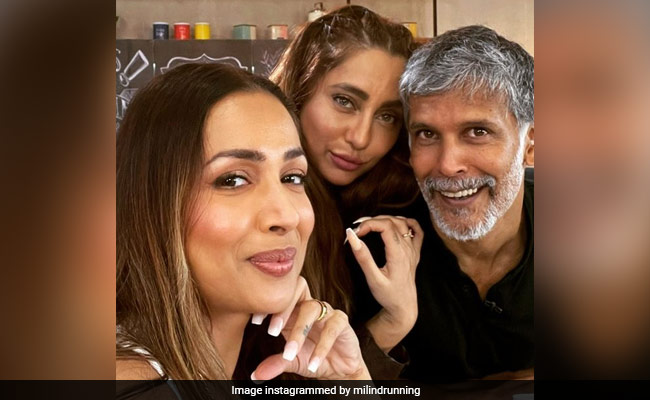 Milind, Malaika And Anusha In A Pic From 'Supermodel Of The Year 2' Sets