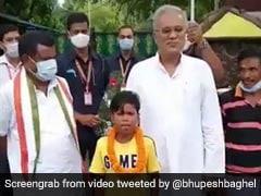 Chhattisgarh Chief Minister Meets Boy Who Went Viral For Singing '<i>Bachpan Ka Pyaar</i>'
