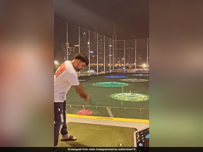 """Rashid Khan Adds """"Special"""" Twist To MS Dhoni's Signature Helicopter Shot. Watch"""