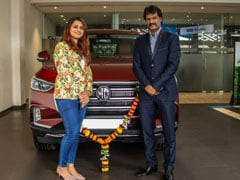 Former Indian Hockey Team Captain Dhanraj Pillay Brings Home The MG Gloster