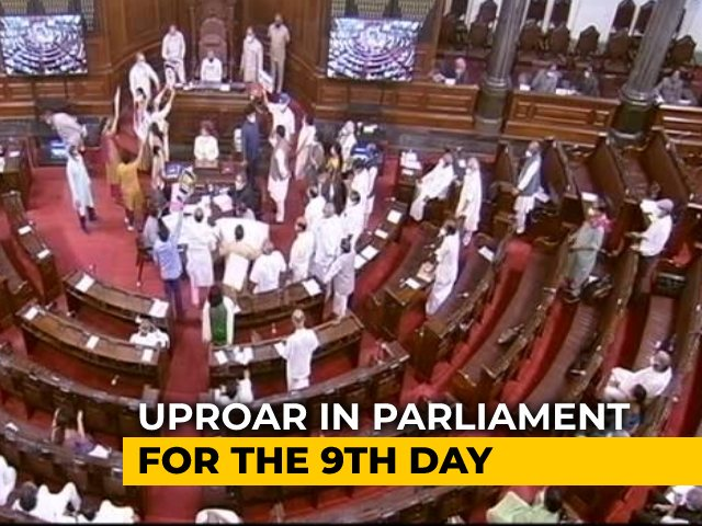 Video : Protests Over Pegasus Disrupt Yet Another Day Of Lok Sabha Proceedings