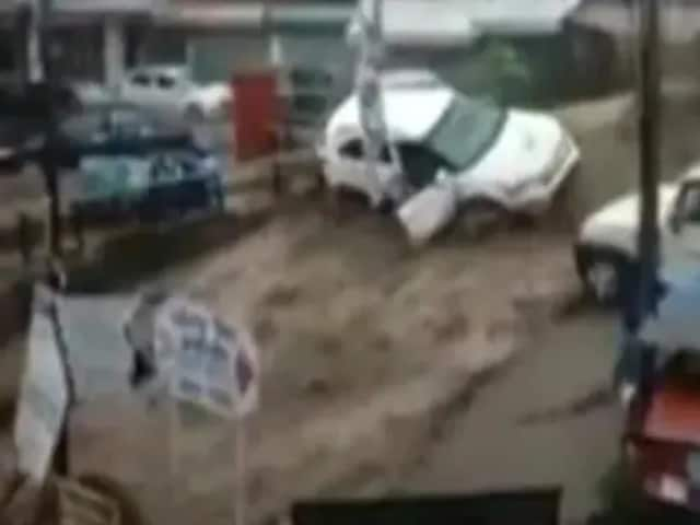 Video : Videos Show Flash Flood Horror In Himachal's Dharamshala After Cloudburst