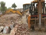 Video : Haryana Demolishes Illegal Houses Built In Protected Area Of Aravalli