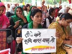"All-Women <i>""Kisan Sansad""</i> At Jantar Mantar In Protest Against Farm Laws"