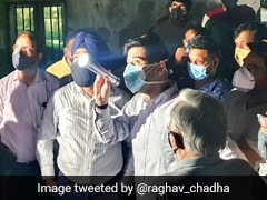 """AAP's Raghav Chadha Conducts """"4 am"""" Inspection Of Underground Reservoirs In Delhi"""