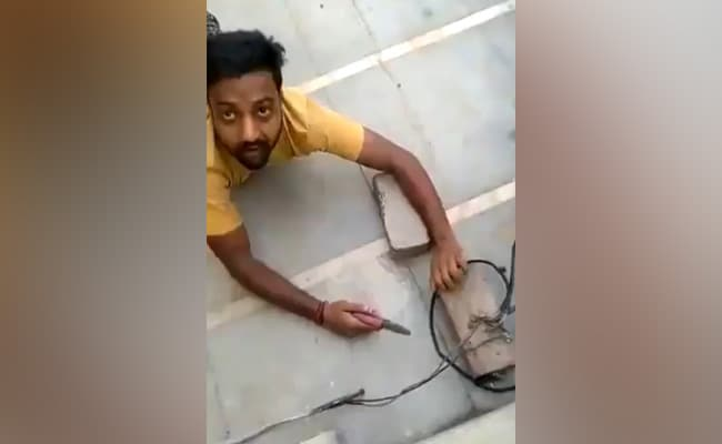 On Camera, He Crawled To Snip Illegal Power Line, Was Caught By...