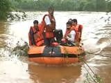 Video : In This Flooded Maharashtra Town, Covid Patients Being Rescued On Boats
