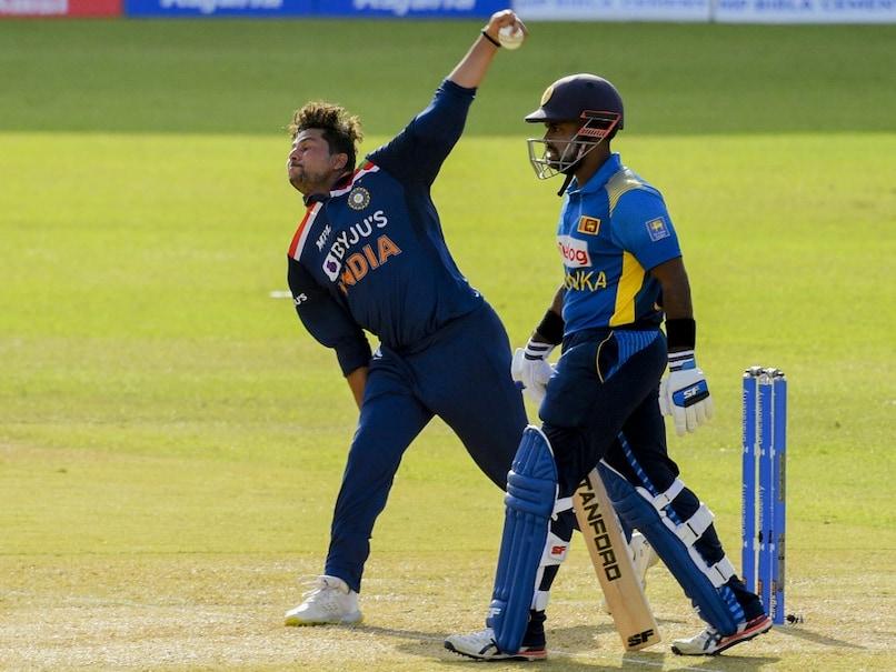 Kuldeep Yadav struck twice for India in the 1st ODI vs Sri Lanka.© AFP