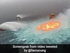 Video: Fire Rages In The Middle Of Ocean Near Mexico