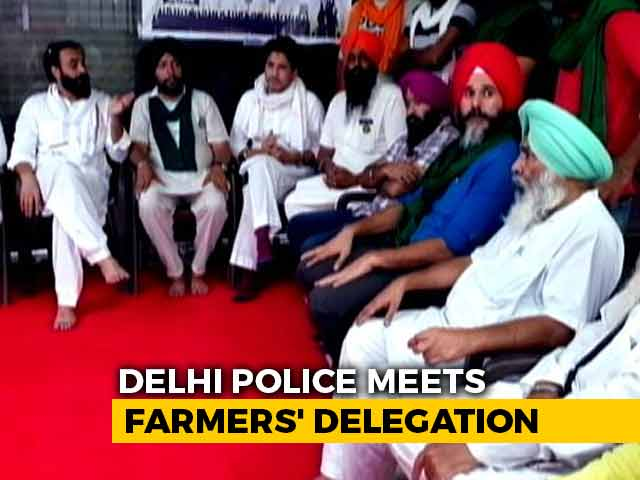 Video : Delhi Police, Farmers' Meeting Over Proposed Parliament March Ends