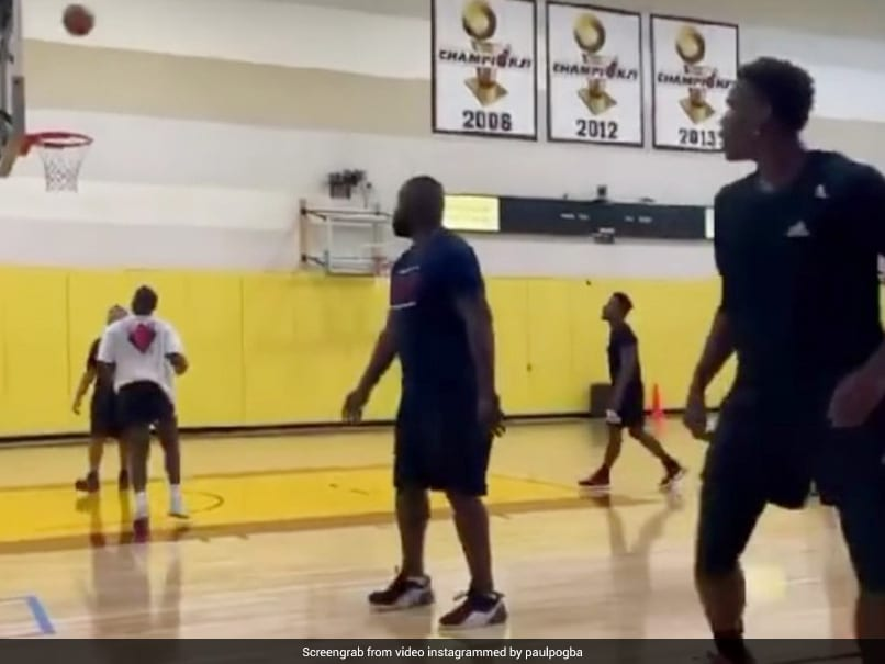 Watch: Paul Pogba Shows Off His Basketball Skills, Scores A Three-Pointer