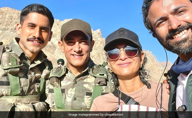 Aamir Khan And Kiran Rao Are All Smiles In Pic Shared By Naga Chaitanya From Laal Singh Chaddha Shoot