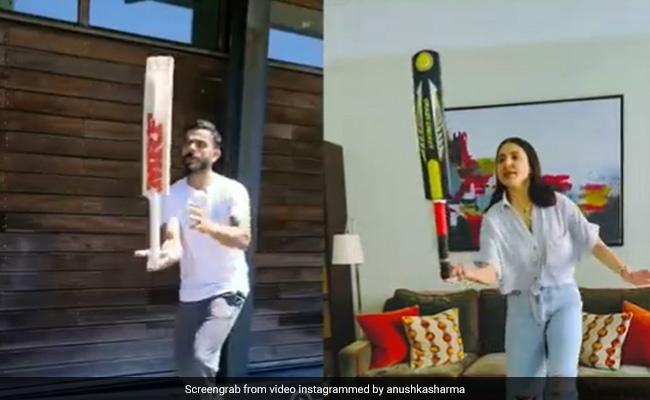 'Ekdam Takatak': Anushka Sharma Or Virat Kohli, Who Did The Bat Balance Challenge Better? We Think It's Her
