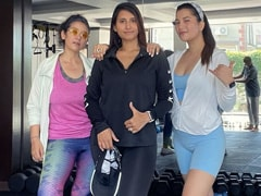 How Manisha Koirala Makes Home Workouts Fun - She Invites Friends