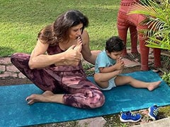 Pooja Batra Found The Perfect Yoga Partner In Her Nephew. See Her Post