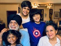 """Grateful For My Family"": Mandira Bedi Posts Pic With Her Parents, Daughter Tara And Son Vir"