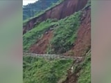 Video : Watch Dramatic Road Collapse After Landslide In Himachal Pradesh