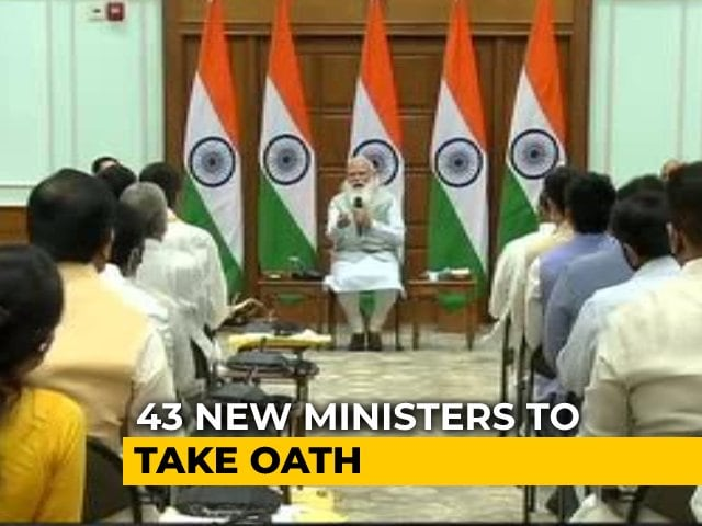 Video : PM Modi Cabinet Revamp: 43 New Ministers Take Oath Today