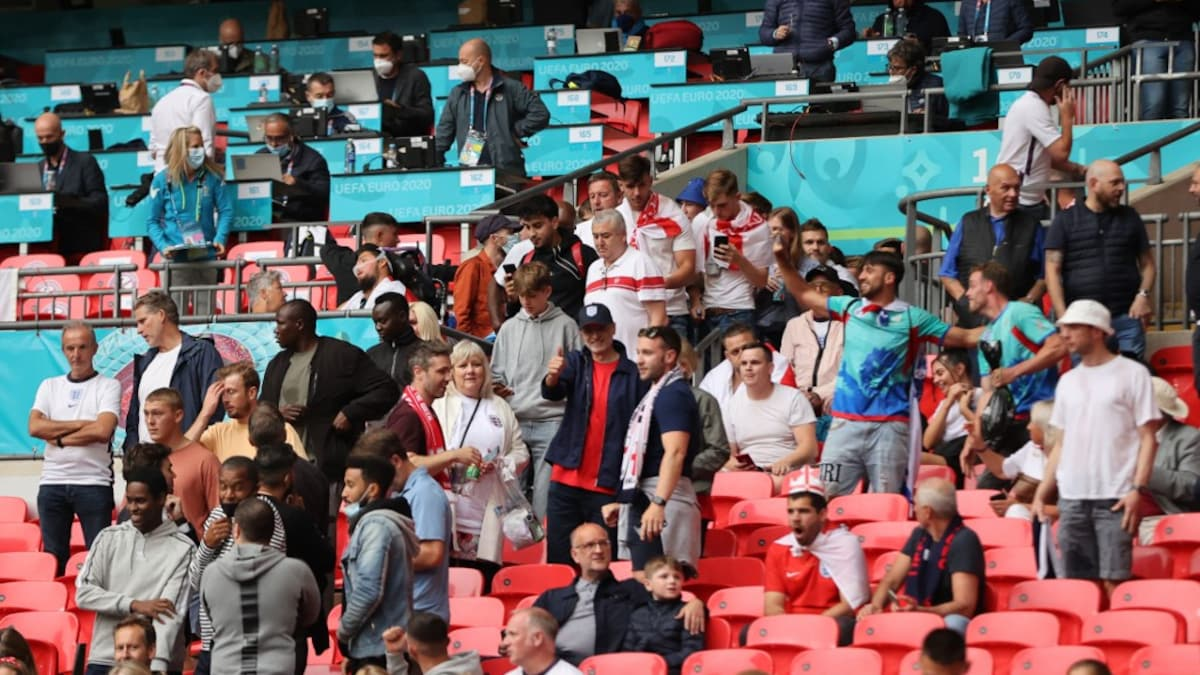 England have been heavily charged after UEFA clash with Wembley fans  Football news