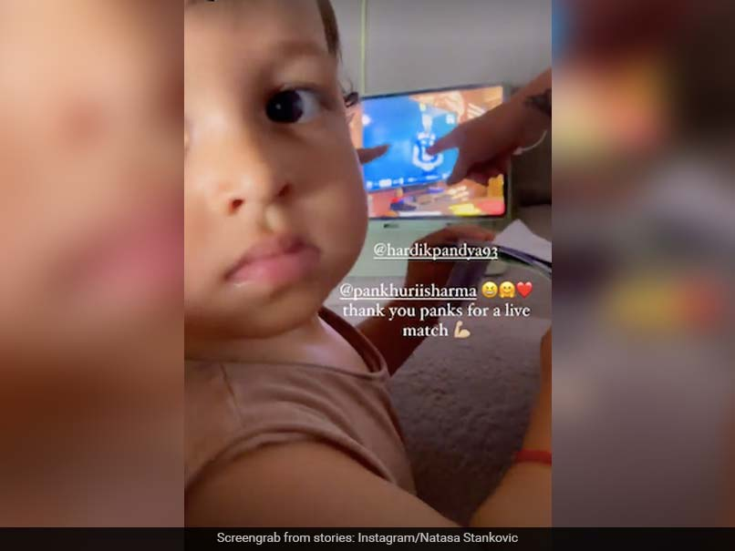 SL vs IND: Natasa Stankovic shares video of Agasty's reaction to Hardik Pandya's bowl against Sri Lanka
