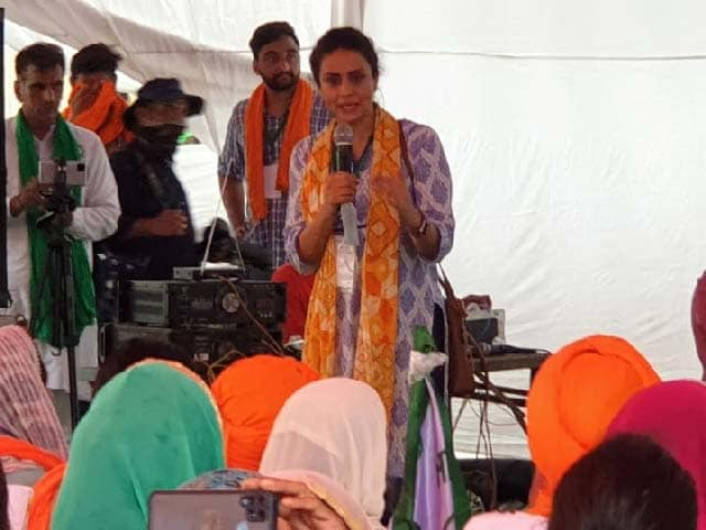 Video : Actor Gul Panag Extends Support To Farmers At All-Women <i>Kisan-Sansad</i>