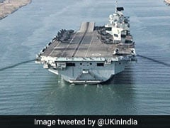 UK's Largest Warship With Strike Group Enter Indian Ocean For Wargame