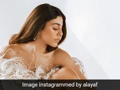 Alaya Furniturewalla In A Feathered Gown Is The Only Dose Of Tuesday Glam You Need