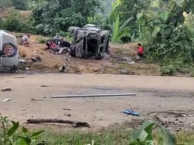 Video : Videos Show Battlefield-Like Scenes On Assam-Mizoram Border