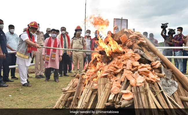 Assam Starts 2-Day Drive To Burn In Public Drugs Worth Rs 163 Crore