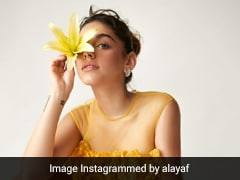 Say Yellow To Alaya Furniturewalla In A Sunny Mesh Dress With Florals And Feathers