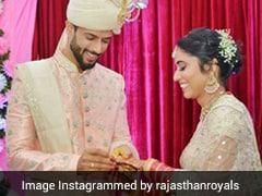 """Where Our Forever Starts"": Shivam Dube Weds Girlfriend Anjum Khan. See Pics"