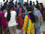 Video : Massive Rush At Telangana Vaccination Centre Creates Chaos