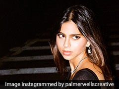 We're Sure Backless Black Dresses And Blue Bags Have A Special Spot In Suhana Khan's Closet