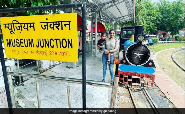 Gul Panag And Son Nihal Went For A Joy Ride At The National Rail Museum